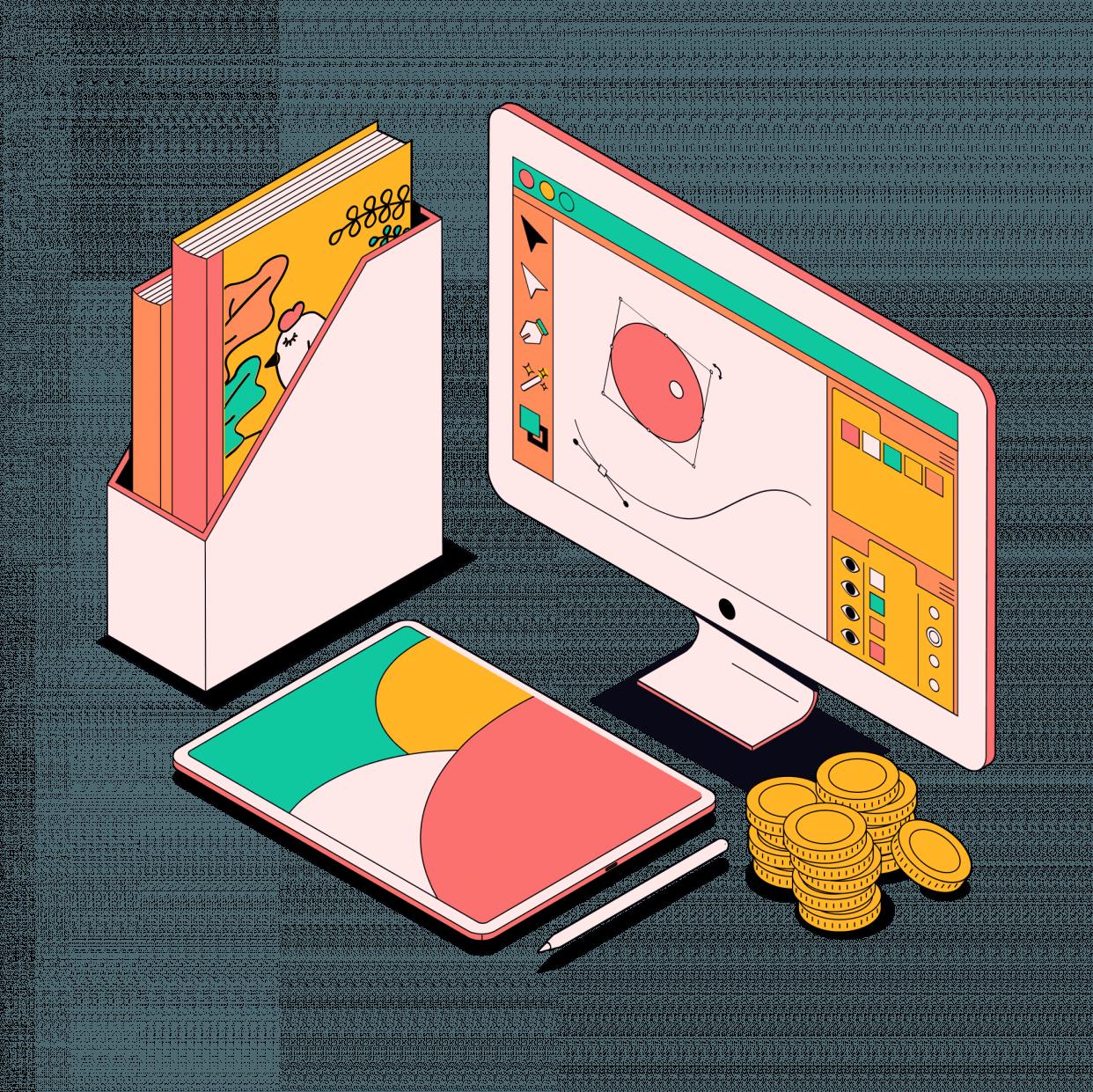 Курс «Коммерческий иллюстратор (5 курсов)» от Skillbox